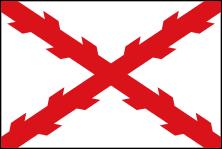Bandera española, Cruz de Borgoña, Aspa de San Andrés, Pensacola