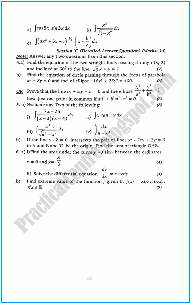 12th-mathematics-five-year-paper-2015
