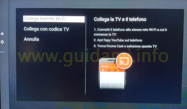 Firefox Fire TV ozpione YouTube collega TV a telefono