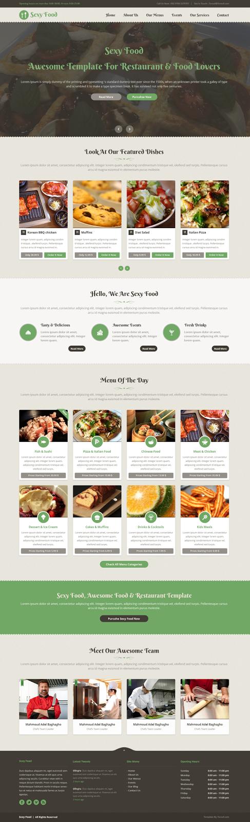 responsive restaurant theme