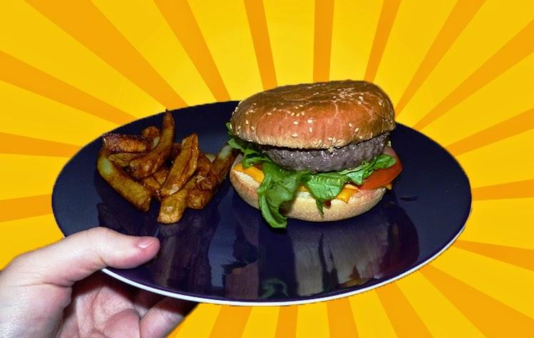 burger et frittes maison