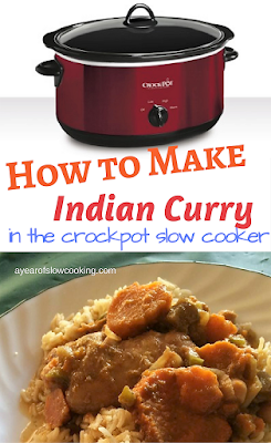 This is the Indian Curry recipe that Rachael Ray developed for AYearoSlowCooking.com  This take out fake out favorite tastes just like a restaurant -- it's one of the best copy cat Indian recipes I've ever had! Easy to assemble and cook at home in the crockpot and is gluten free, too!