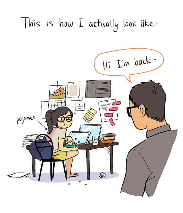 Artist Captures Her Relationship With 'IT Guy' In 13 Cute Illustrations