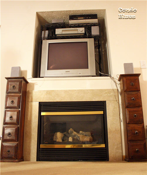 condo blues how to install a flat panel tv wall mount. Black Bedroom Furniture Sets. Home Design Ideas