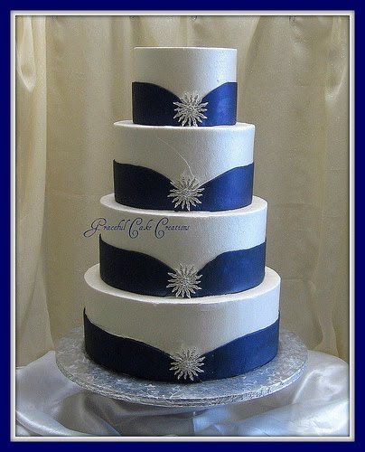 blue and silver wedding cake ideas cakechannel world of cakes white and blue wedding 11960