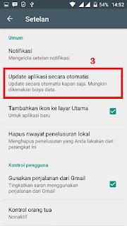 mematikan update aplikasi yang berjalan otomatis
