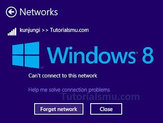 Merubah Password Wifi Tersimpan di Windows 8