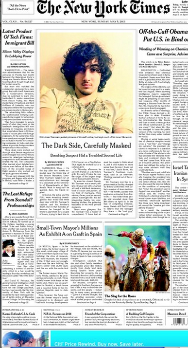 Front Pagenew York Times Design Of: Crimes Of The Times: With Sinister Irony, The New York