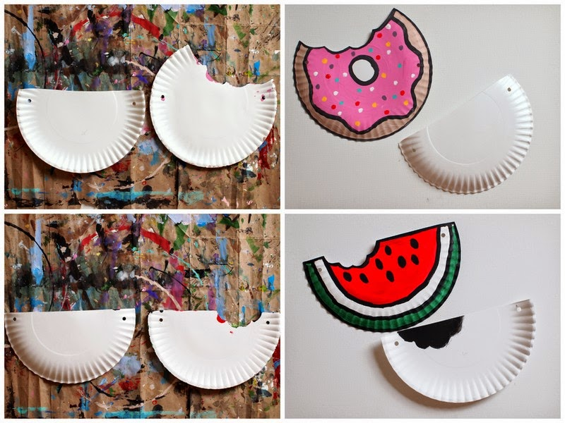 How to Make Doughnut and Watermelon Paper Plate Purses