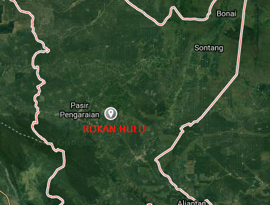 Google map Rokan Hulu Riau