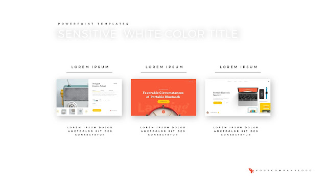 3 Image Placeholder of Premium PowerPoint Template with Whit Title