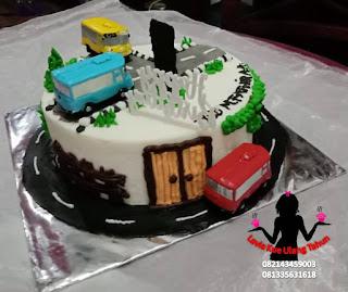 Kue Tart Hias Tayo Lengkap Dengan Lani and Gani