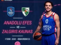 Anadolu Efes - Zalgiris KaunasCanli Maç İzle 17 Ekim 2018