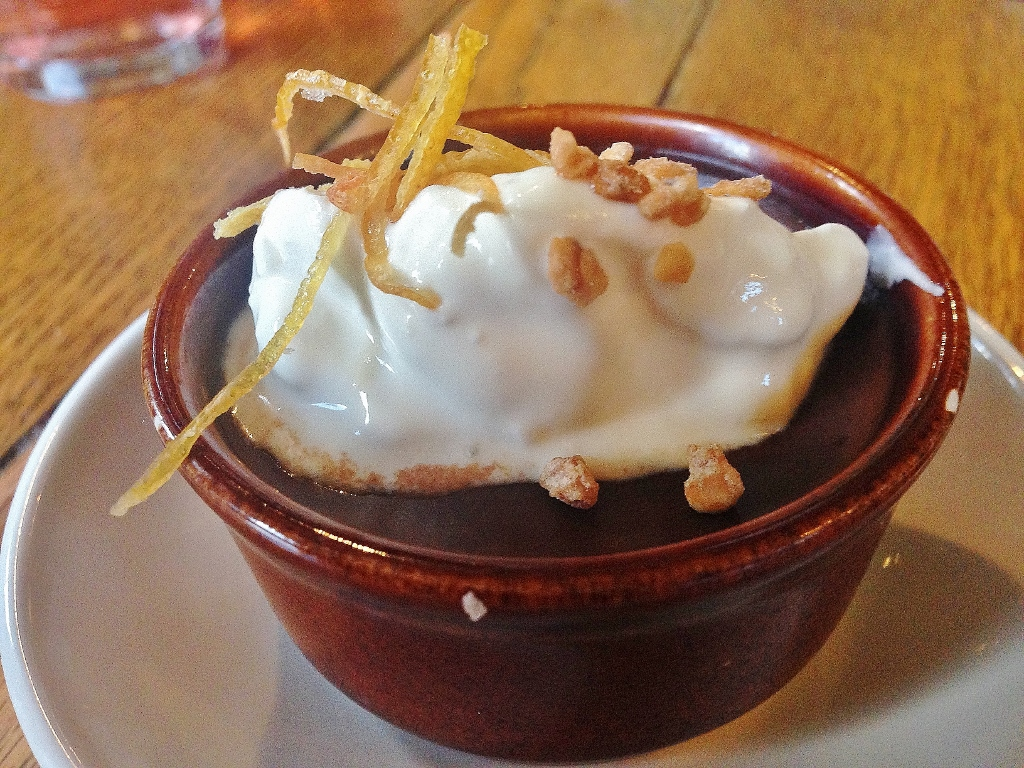 Salted caramel chocolate pot