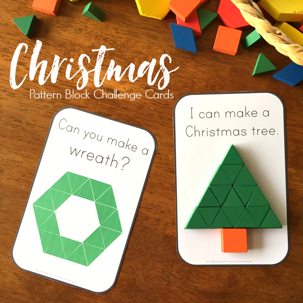 Christmas 2D Shape Challenge Cards | you clever monkey