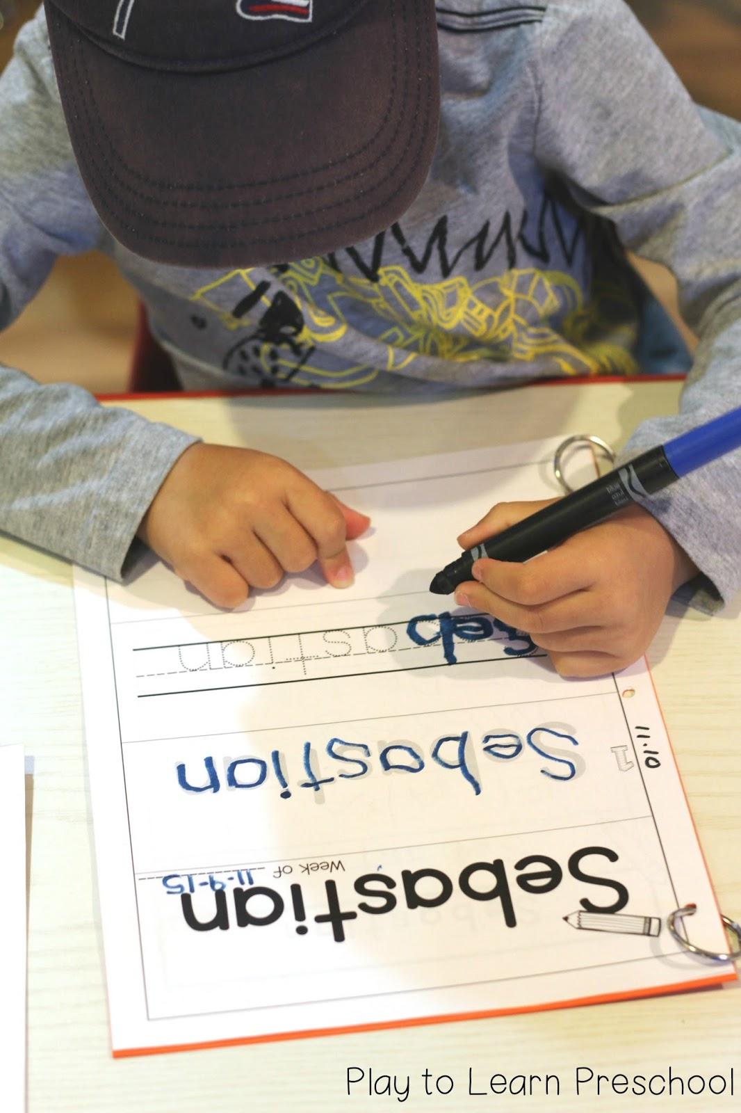 Easy Name Practice Worksheets