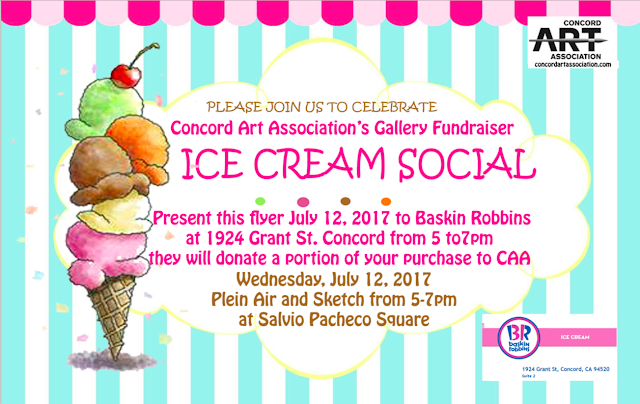 CAA ice cream social flyer