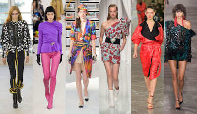 From left: Louis Vuitton, Balenciaga, Chanel, Emanuel Ungaro, Kenzo and Saint Laurent. Photos: Imaxtree