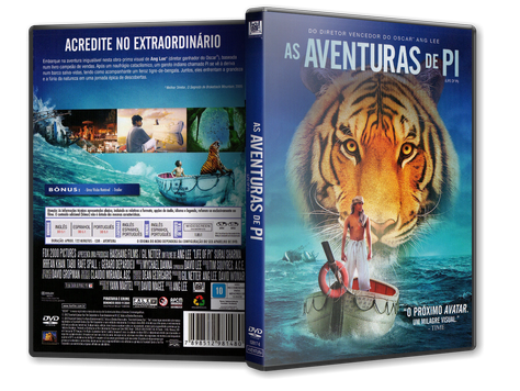 Capa DVD As Aventuras de Pi