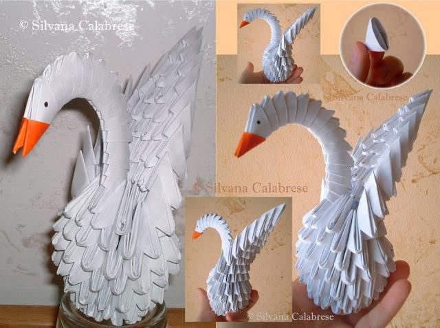 Origami 3D. Il cigno