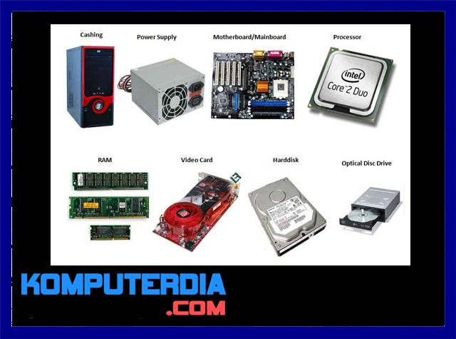 Pengertian Komponen - Komponen Perangkat Komputer