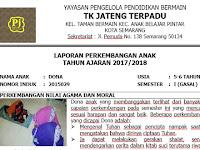 Contoh Raport PAUD K-13 Terbaru+ Contoh Pengisian Raport