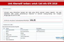 Link Alternatif terbaru untuk Cek Info GTK 2018