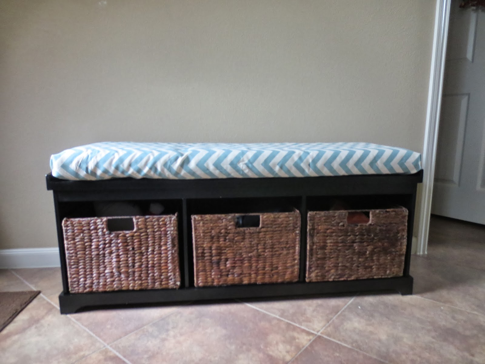 Superb No Sew Bench Seat Cushion The Bajan Texan Ocoug Best Dining Table And Chair Ideas Images Ocougorg