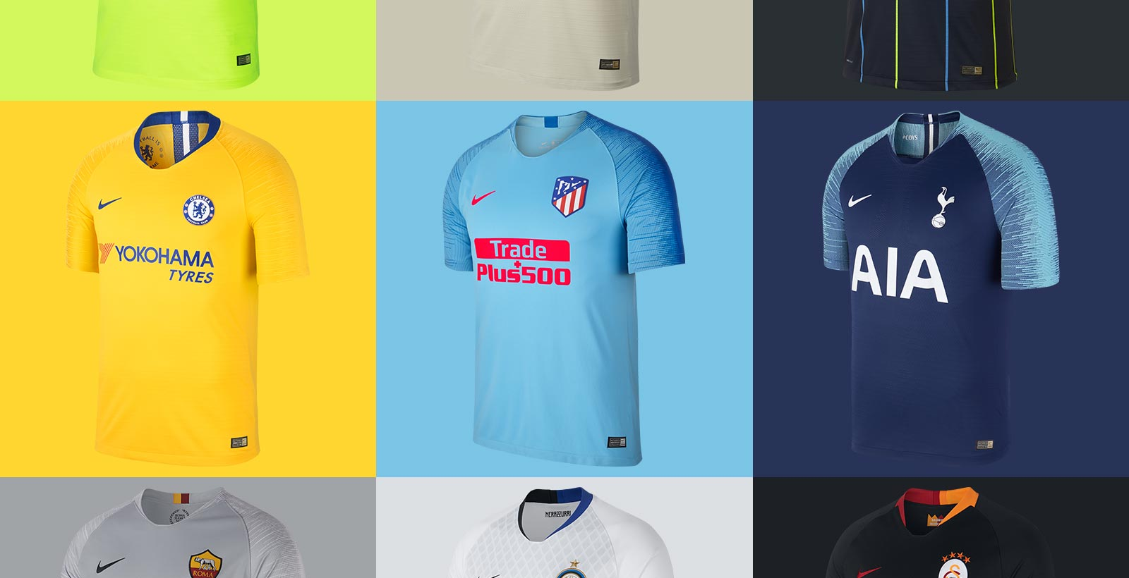 752b16041 Today we want to give you a complete overview of all Nike 18-19 away kits