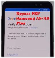 bypass FRP Samsung A8