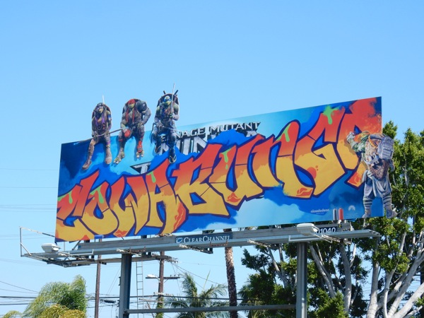 Ninja Turtles Out of the Shadows Cowabunga graffiti billboard