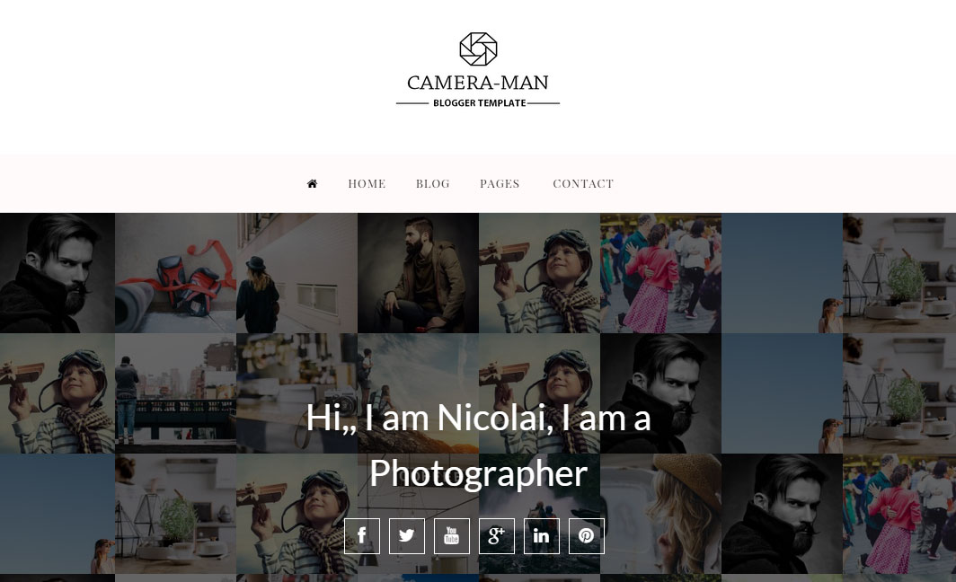 Camera-Man Responsive Blogger Template