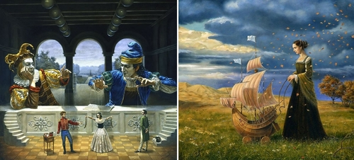 00-Michael-Cheval-Surreal-Paintings-that-Draw-inspiration-from-The-East-and-West-www-designstack-co