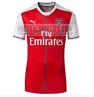 Arsenal 16/17 Home kit