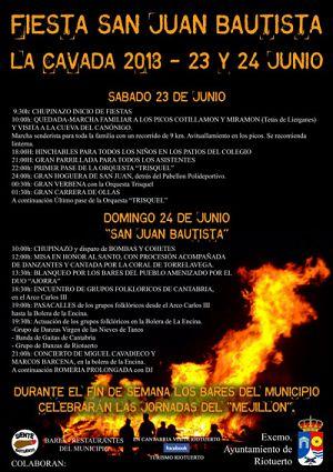 Fiesta de San Juan Bautista en La Cavada 2018