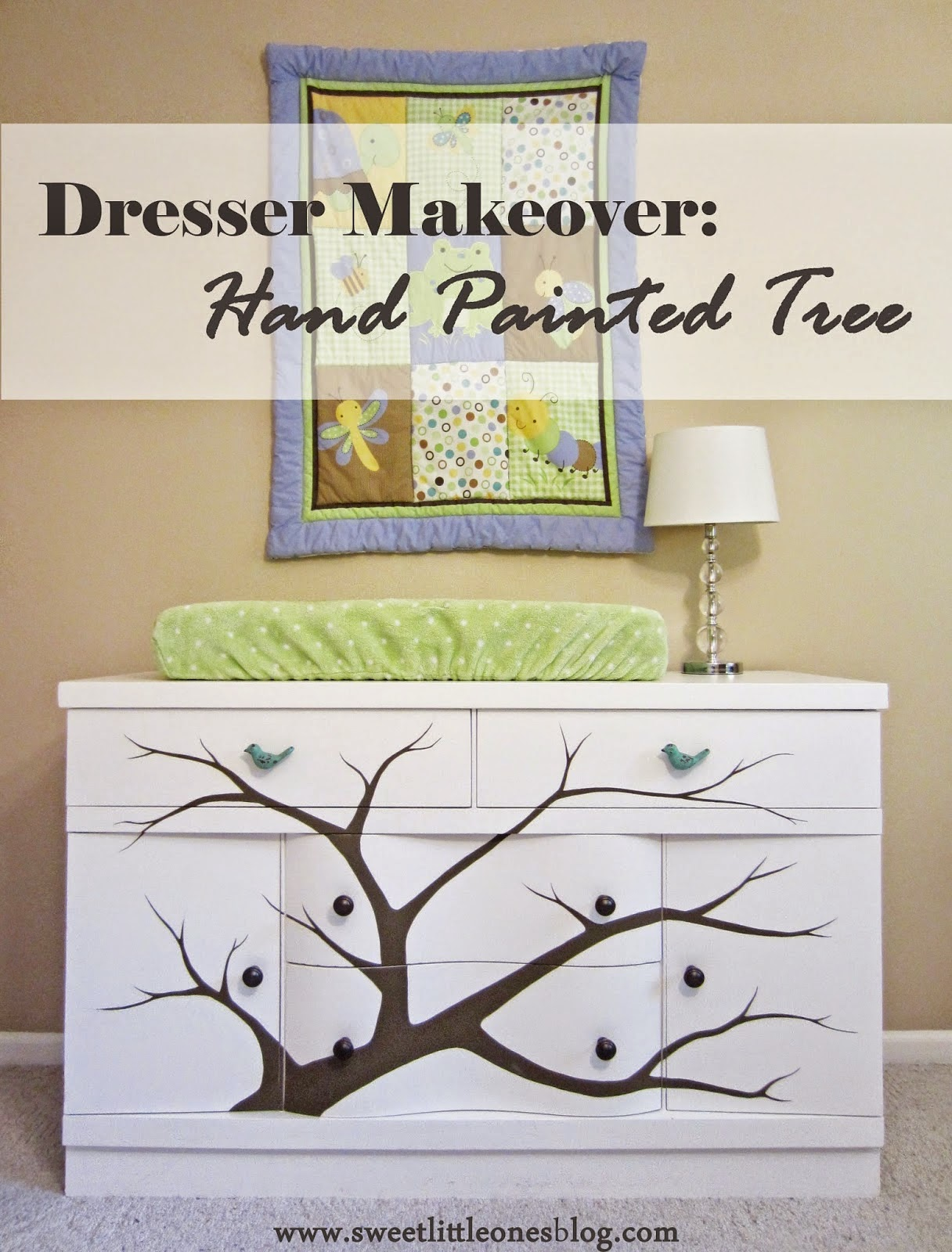 dresser-makeover nursery changing table diy