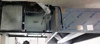 foto de campana con cajas de filtos y extracción