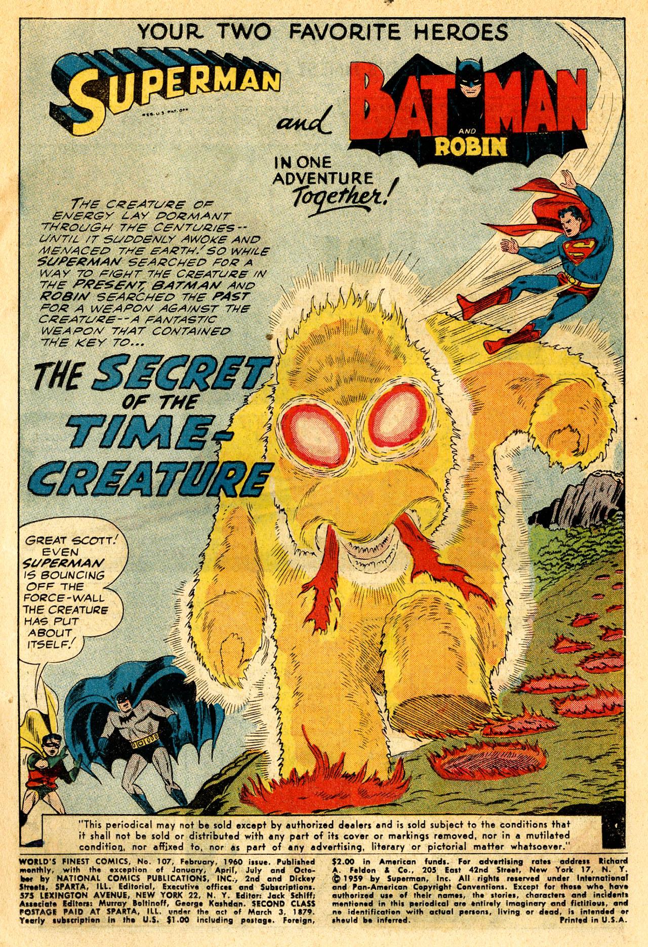 Read online World's Finest Comics comic -  Issue #107 - 3