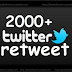 Paket 2000 Retweet Tweet Twitter