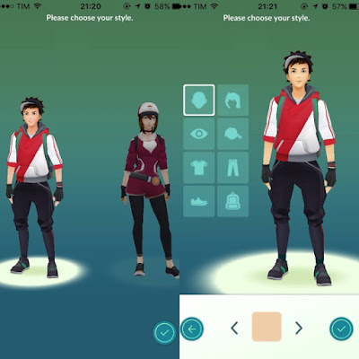 Personalizando personagem no jogo