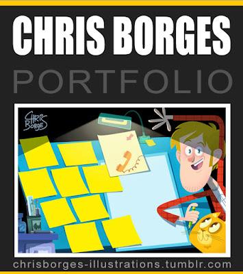 chris borges portfolio site  ilustracao ilustrador blog