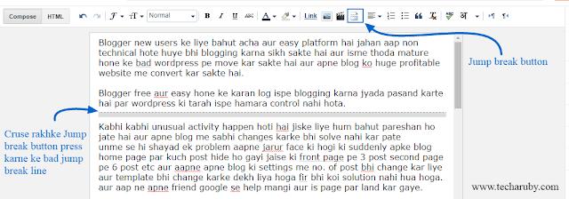 blogger page break