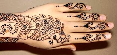 Easy Mehndi Design For Bride