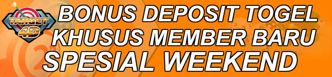 Bonus Deposit Togel Khusus Member Baru Di Hari Weekend