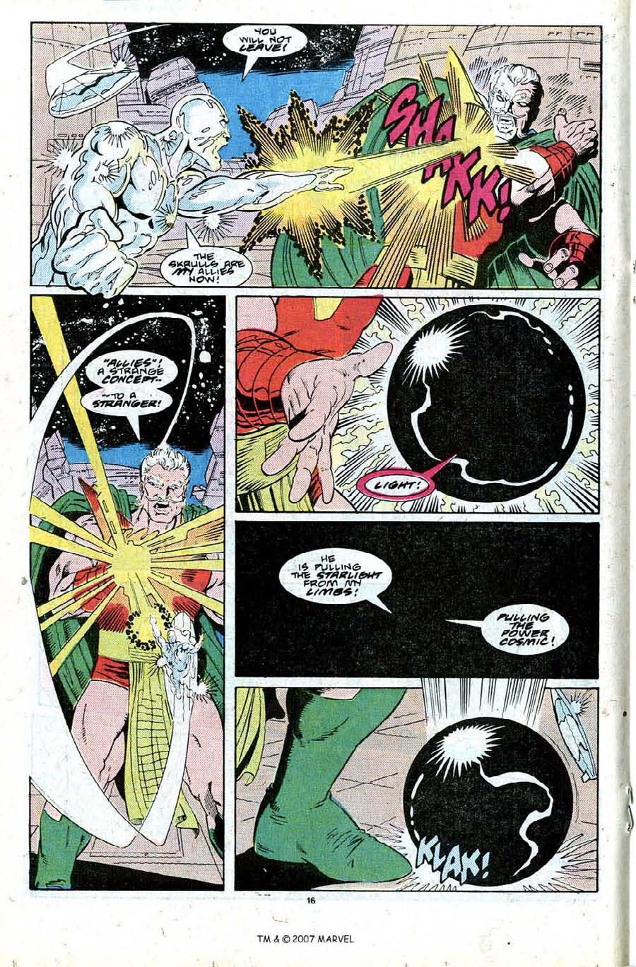 Read online Silver Surfer (1987) comic -  Issue #27 - 18