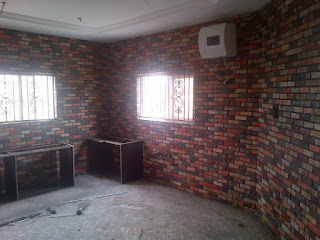 colored antique bricks in a kitchen