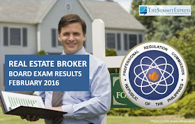 February 2016 Real Estate Broker board exam results