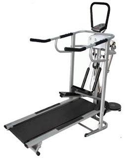 Alat Olahraga Fitnes Treadmill Manual 6 Fungsi