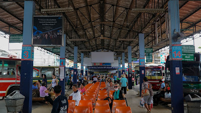 Arrival at Chiang Rai Bus Station 1