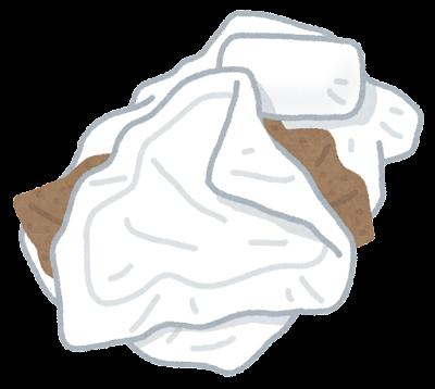 くしゃくしゃの布団のイラスト